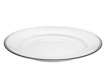 Pillivuyt Bistro lautanen valkoharmaa Ø 27 cm
