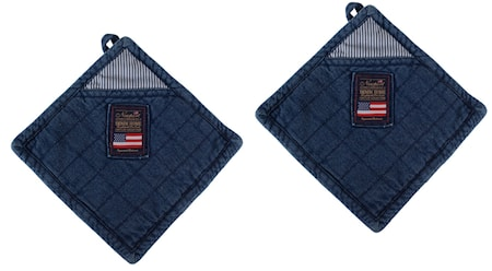 Newport Collection 2-pack denim potholder