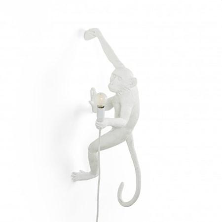 Monkey Lamp Hängande Höger Vit