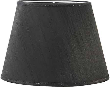 Bilde av PR Home Oval Lampeskjerm Silke Svart 20 cm