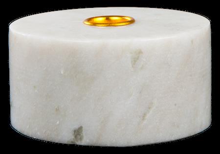 Svensk Marmor Ljusstake Vit marmor 55 cm Ø 105