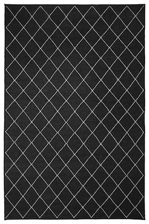 Diamond Dhurry Matta Ull Mörkgrå/Off White 184x280 cm
