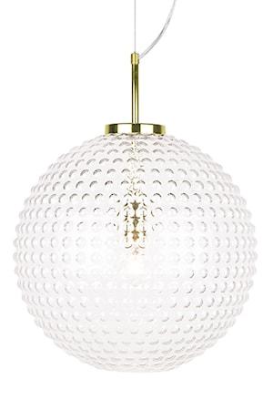 Bilde av Globen Lighting Pendel Spring XL Klar / Messing