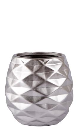 Bilde av KJ Collection Vase Keramikk Sølv Matt 18 cm
