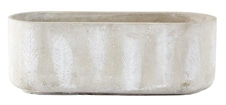 Bilde av KJ Collection Krukke Sement Grå 10,5x29,5x11,5 cm