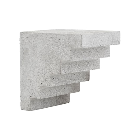 Art piece, Stairs, Grey ,l: 15 cm, w: 12 cm, h: 15 cm