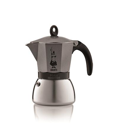 Bialetti Espressokeitin Moka Induction Anthracite 6/k
