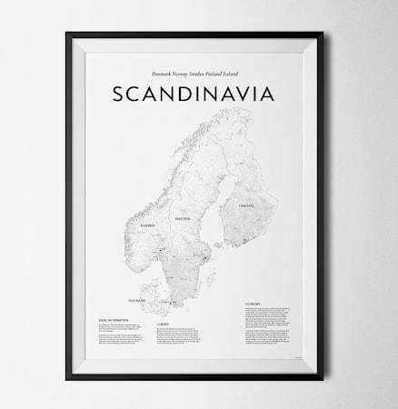 Bilde av Konstgaraget Scandinavia map poster