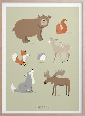 I skogen Poster 50x70 cm
