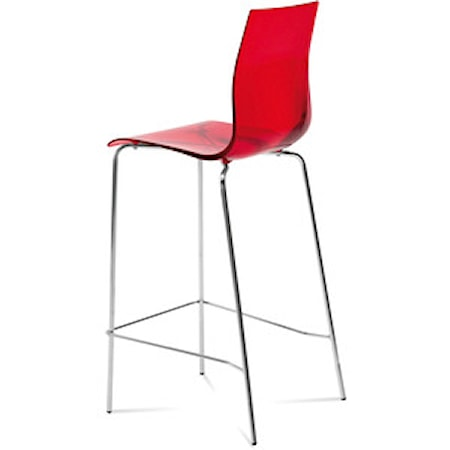 Domitalia Gel SGA barstol - Aluminium, Röd