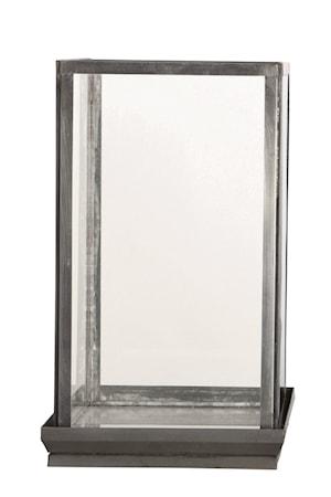 Glasdisplay 19x19x33 cm Järn