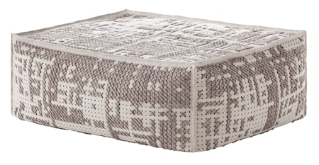 GAN Rugs Canevas Soft Abstract Puff 100x70x42 - silver