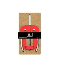 Hävertkorkskruv Uggla Röd i korkförpackning