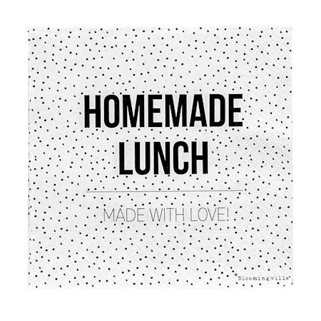 Bloomingville Servett Homemade lunch 20 st 33×33 cm