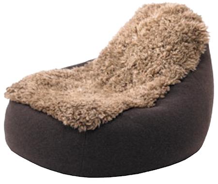 Skandilock Groovy Beanbag Medium - Black/Brown
