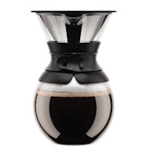 Kaffebryggare med Filter 1 liter Svart