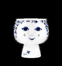 Ytterkruka på fot, Juliane, blå, Ø11 cm