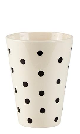 Bilde av KJ Collection Vase Prickig Creme 20 cm