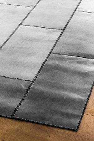 Leather Grå Matta 180x240 cm