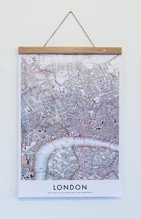 Bilde av Owl streets London Map poster