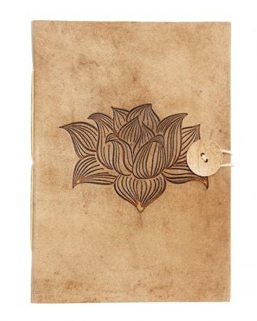 Notebook Lotusblomma Läder large