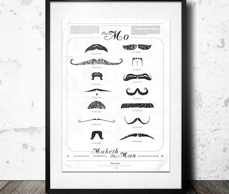 Bilde av Konstgaraget mustasch affish poster