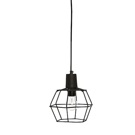 Bilde av Hübsch Netting screen black taklampe