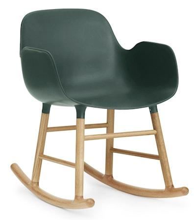 Normann Copenhagen Form rocking chair karmstol ek - Green