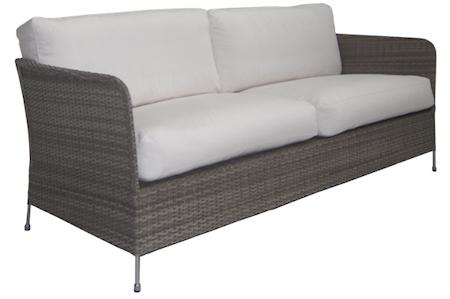 Sika Design Orion 3-sits soffa - Teak grå, inklusive dynor
