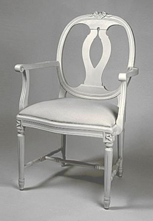 Kallholmen Vilhelmina karm stol - pärlgrå