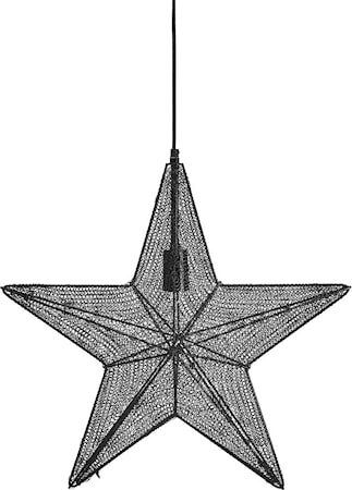 Orion hanging star Svart 44cm
