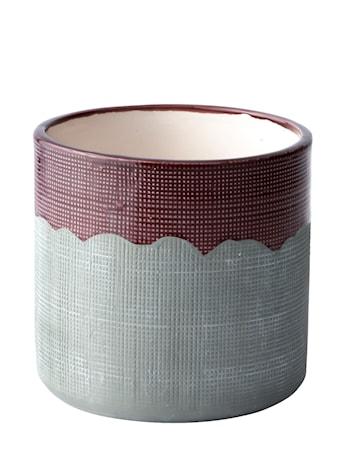 Bilde av KJ Collection Krukke Keramikk Lilla/Grå 13 cm