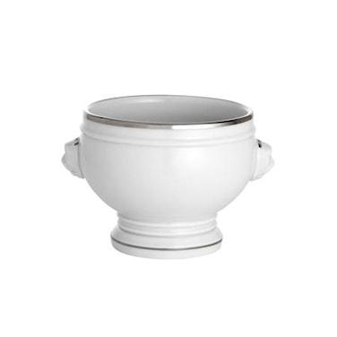 Bistro soppskål nr. 4 vit/silver