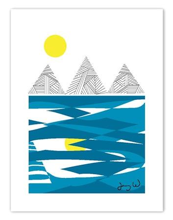 Bilde av Wallmark formstudio Berg og hav poster
