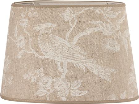 Bilde av PR Home Omera Lampeskjerm White Bird 27 cm