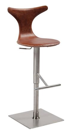 Dan Form Denmark Dolphin barstol ? Ljusbrunt läder/stål