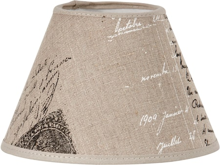 Bilde av PR Home Royal Lampeskjerm Naturtekst 16 cm