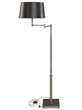 Pewter Swing Golvlampa Iron Exklusive Lampskärm
