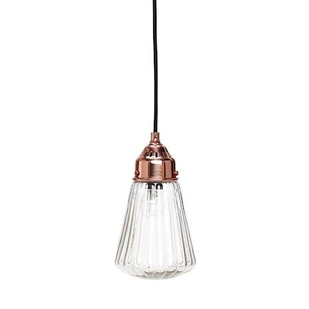 Bilde av Hübsch Thin glass shade taklampe
