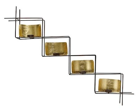 Ljuslykta stege till vägg 101 cm - Mässing