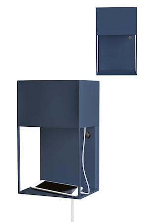 Box Vägglampa Mörkblå