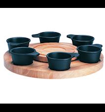 Le Gourmet Fonduekarusell med 6 gjutjärnsskålar