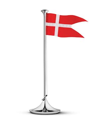Födelsedagsflagga Danmark 39cm Rostfritt Stål