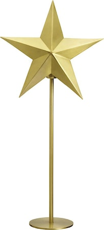 Nordic Star on base Pale gold 63cm