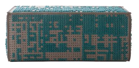 GAN Rugs Canevas Modular Abstract Puff 100x70x42 - grön