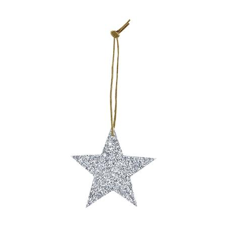 Ornament Glitter Ø 5 cm - Silver