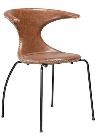 Dan Form Denmark Flair stol ? Ljusbrunt läder, svart