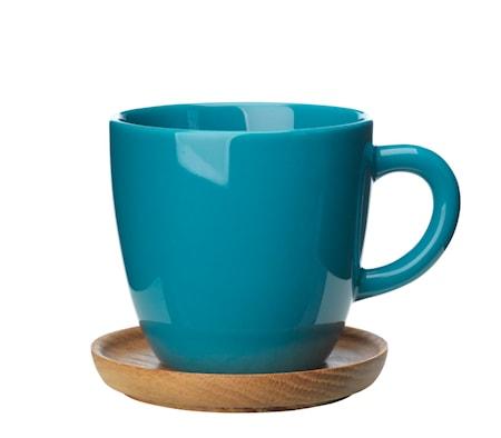 Bilde av Höganäs Keramikk Kaffekrus + Trefat 33 Cl Sjøgrønn Blank bb4982c61e9f6