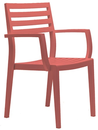 Ethimo Stella armchair - Coral red