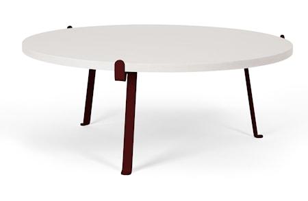 Novel cabinet makers Arche soffbord - Vit/mörkröd